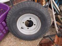 Erde trailer spare wheel rim with tyre 8 inch