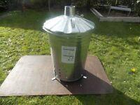 Galvanised Garden Incinerator Bin
