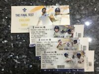 3 x England v India Cricket day 3 Test 9th sept 2018 Tickets is first OCS Row
