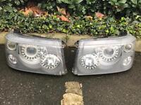 Range Rover sport angel eye led headlights