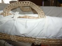 Moses basket with fitted sheet only £15 can deliver local 4 a fee
