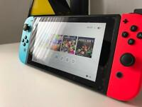 Nintendo switch with accessories and game