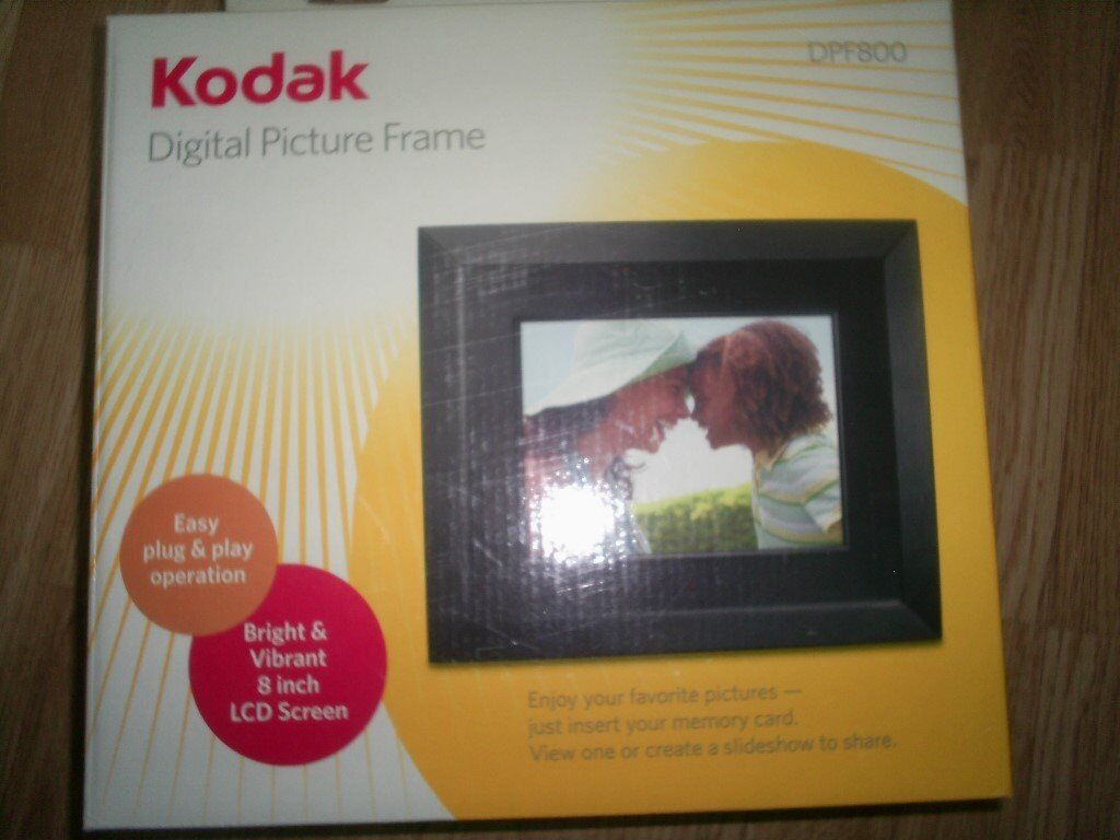 Kodak digital picture frame 8 inch lcd screen it takes memory kodak digital picture frame 8 inch lcd screen it takes memory card or stick jeuxipadfo Image collections