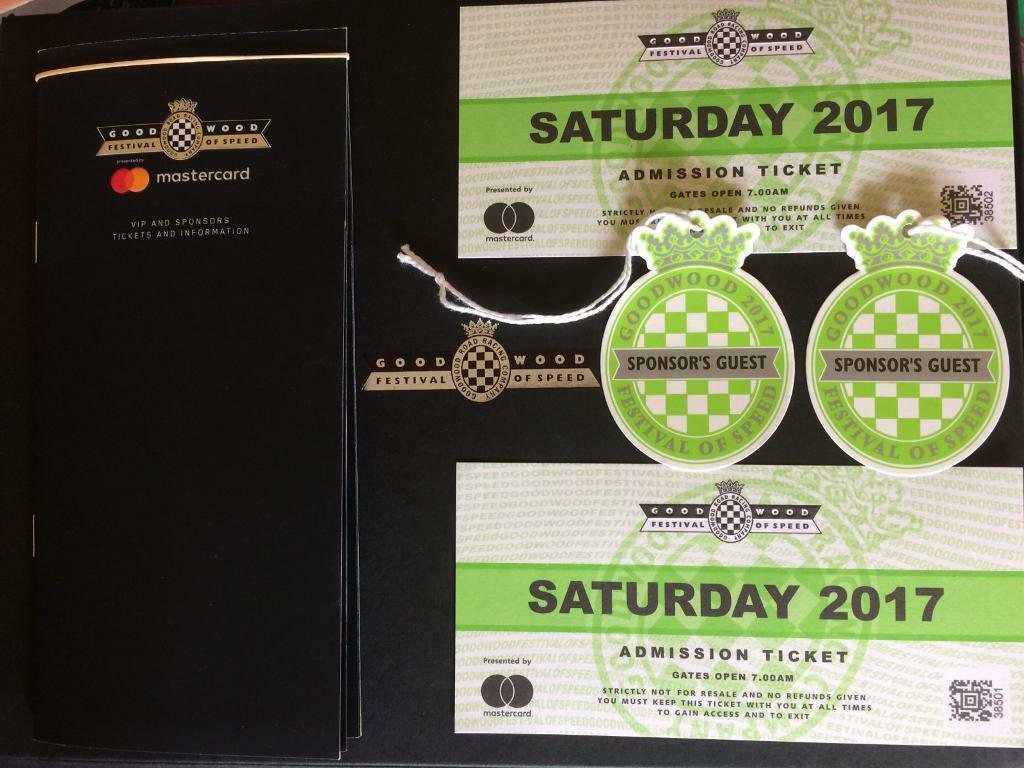 Goodwood Festival Of Speed Sat Tickets Available In