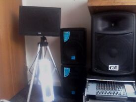 Pro sound system with lights, make me an offer