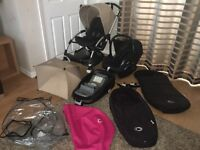 Complete Bugaboo Bee Plus Pushchair Pram and Maxicosi Car seat Travel System £350