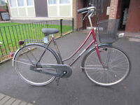 Nice Dutch bike Raleigh bicycle with 5 gears and a basket