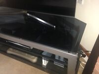 Corner tv stand with glass shelves vgc nearly new . Bargain at £40