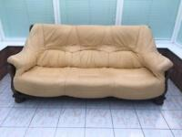 FREE BUTTER YELLOW 2 SEATER/3 SEATER SOFAS