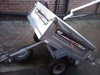 Erde 102 tipping trailer with spare wheel and cover very good condition