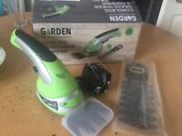 BOXED GARDEN TRIMMER CORDLESS USED RARELY
