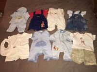 Bundle baby boy clothes : age 0-3 months : 45 items