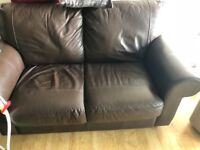 Brown leather sofas 150 ono need gone ASAP