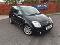 CITROEN C2 1.4 SX HDI DIESEL MANUAL BLACK + LEATHER + CRUISE CONTROL + GREAT CONDITION