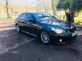 BMW 530D 525D M SPORTS-M PACKET-2005-PRIVATE PLATE-FULL LEATHER-NEW TURBO-REMAPPED 277BHP-AUTO-BLACK