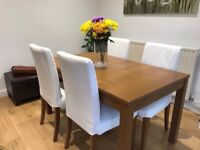 **** SOLD ****Dining table and chairs
