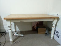 PINE TABLE - Distressed shabby chic look