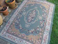 """Green floral rug 120 cms (47"""") x 170 cms (67"""")"""