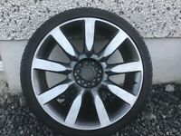 19INCH 5/112,5/100 MULTIFIT AUDI VW SEAT SKODA ALLOY WHEELS WITH TYRES FIT MOST MODELS