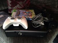 black slim xbox 360 with minecraft and terreria swap ps4 games