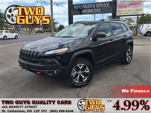 2016 Jeep Cherokee TRAILHAWK 4X4 LEATHER ALLOYS