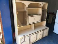 **REDUCED** A 2 part large wall display unit with lights and glass doors