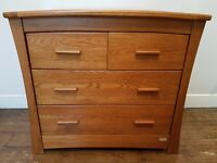 Gorgeous Mamas and Papas Ocean Changing Table / Chest of Draws in Dark Oak in great condition - £200