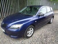 MAZDA 3 SAKATA 1.6 5 DOOR PETROL BLUE 77,000 MILES SERVICE HISTORY MOT 12 MONTHS ONE PREVIOUS OWNER