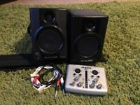 M-audio av30 speakers and alesis IO2 express interface