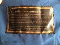 Vintage blue leather coat size 10-12