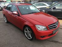 2008/57 MERCEDES-BENZ C CLASS 2.1 C200 CDI SE 4DR AUTOMATIC,RED,LOW MILEAGE,STUNNING ,DRIVES WELL