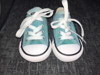 Aqua converse (infant size 4)