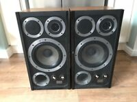 WHARFEDALE E50 VINTAGE FLOORSTANDING 4 WAY STEREO MAIN SPEAKERS - SOUND AMAZING - COLLECTION NE25