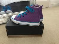 Girls Converse Boots Size 11uk Infant Excellent Condition