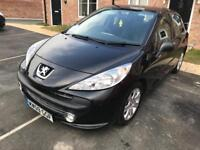 2009 (09) Peugeot 207 sport, 1.6 Hdi, Black, 12 Months Mot, £30/year tax, 55+mpg