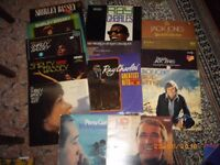VINYL MIXED LOT-BASSEY/JACK JONES/RAY CHARLES/COMO