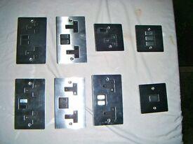 Stainless Steel plug sockets.