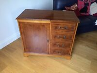 Beautiful yew cupboard / hifi unit - reproduction by Lorna Dewey; used but reasonable condition
