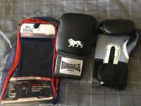 Adult Boxing Gloves, Straps and Mouthguard Set - Brand New, Never Worn