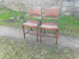 Pair of dining / bedroom chairs