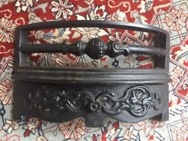 Cast iron vintage fire front facing