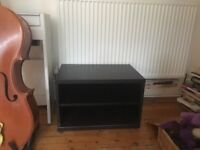 Black Ikea TV table available, no issues with condition.