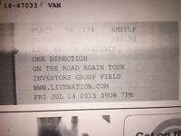 2 One Direction OTRA Concert Tickets