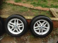 BMW set of 4 alloys 195x65xR15 good condition