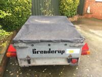 "Brenderup 5ft x 3ft 7"" Trailer + cover/jockey wheel"
