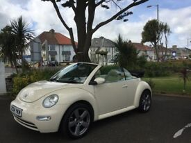 VW Beetle convertible, Cream Diesel 2.0l , all paperwork and service papers and lot of receipts