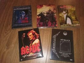 Iron Maiden, Metallica and AC/DC Music DVD' s - excellent condition