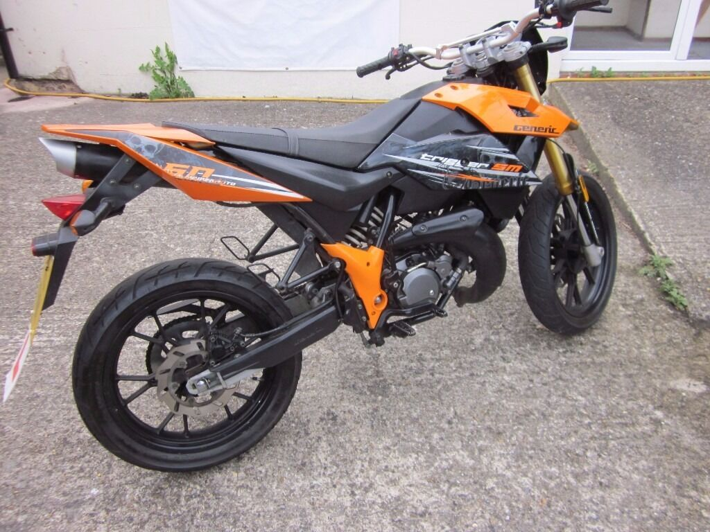2013 generic trigger sm 50cc supermoto moped motorbike. Black Bedroom Furniture Sets. Home Design Ideas