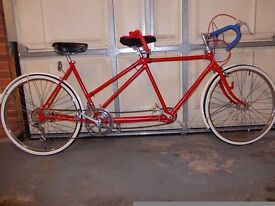 """Complete refurbished and serviced BSA Tandem. Wheels 26 X 1.3/8th, frame 20.5"""", length 2.3m"""