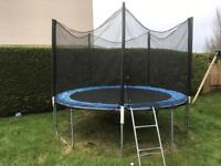 10ft trampoline good condition but will need a new zip on the net. £20